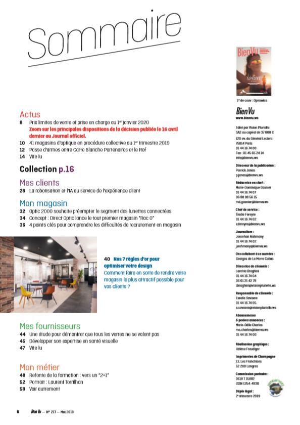Bien Vu N° 277 - Mai 2019 - Sommaire