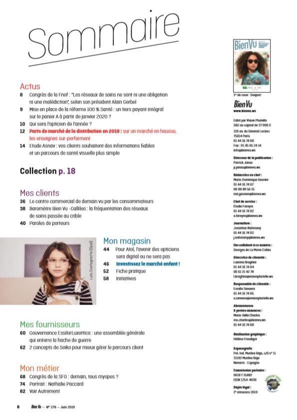 Bien Vu N° 278 - Juin 2019 - Sommaire
