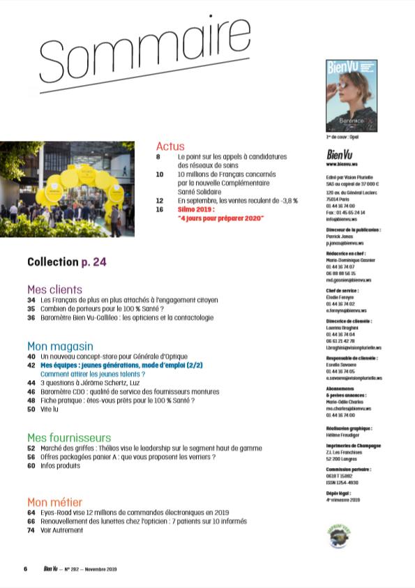 Bien Vu N° 282 - Novembre 2019 - Sommaire