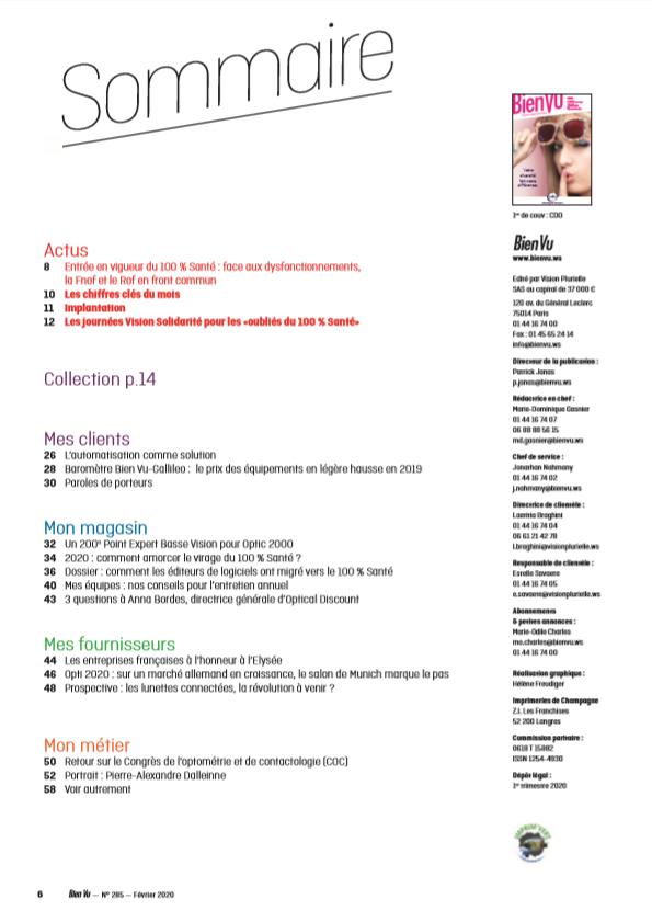 Biern Vu N° 285 - Février 2020 - Sommaire