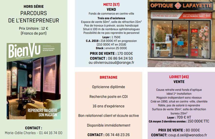 Bien Vu N° 292 - Octobre 2020 - Carrière