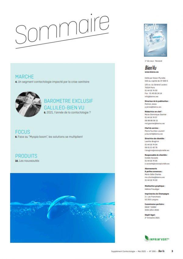 Contactologie 2021 - Sommaire